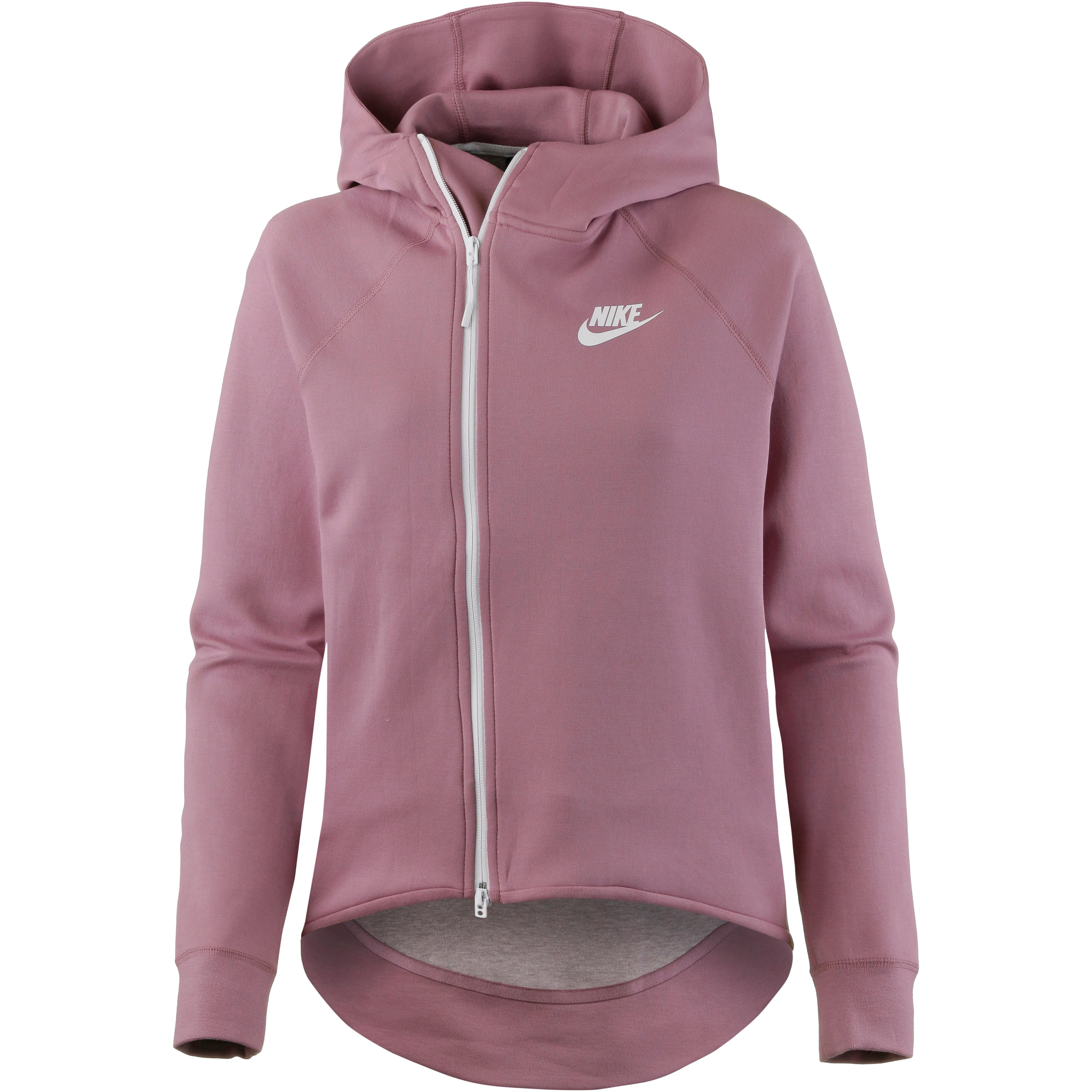 Nike NSW Tech Fleece Sweatjacke Damen plum dust white im Online Shop von SportScheck kaufen