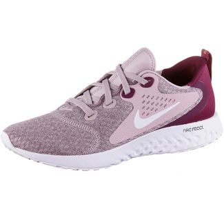 Nike Rebel React Laufschuhe Damen plum chalk-white-true berry