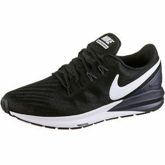 Nike AIR ZOOM STRUCTURE 22 Laufschuhe Herren black-white-gridiron