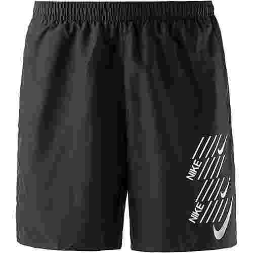 Nike Challenger Laufshorts Herren black-black-white
