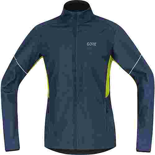 GORE® WEAR R3 Partial GORE® WINDSTOPPER® Laufjacke Herren deep water blue-citrus green