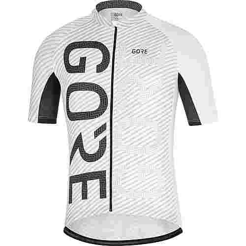 GORE® WEAR C3 Brand Trikot Fahrradtrikot Herren white/black