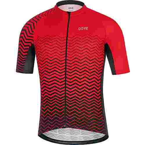 GORE® WEAR C3 Trikot Fahrradtrikot Herren red/black