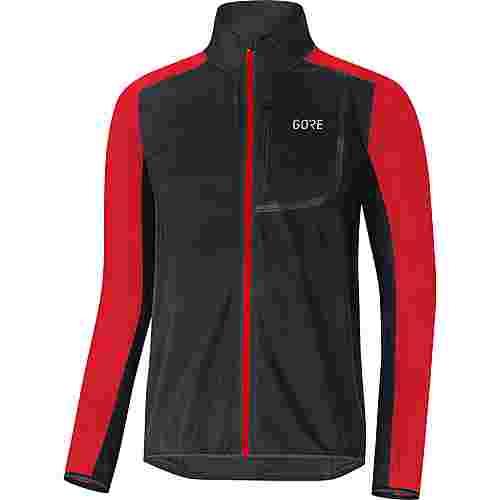 GORE® WEAR C3 Gore Windstopper Fahrradjacke Herren black/red