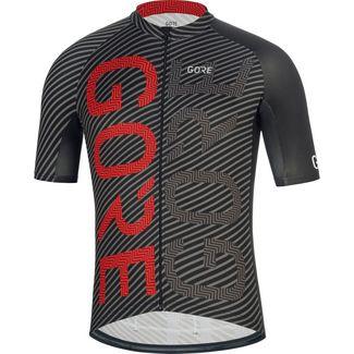 GORE® WEAR C3 Brand Trikot Fahrradtrikot Herren black/red