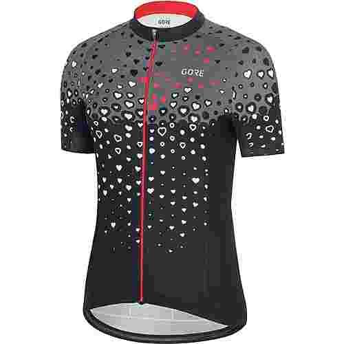 GORE® WEAR C3 Trikot Fahrradtrikot Damen black/hibiscus pink