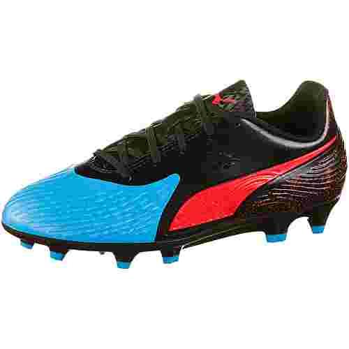 PUMA PUMA ONE 19.4 FG/AG Jr Fußballschuhe Kinder bleu azur-red blast-puma black