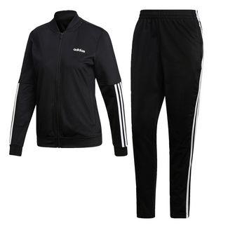 adidas Back 2 Basics 3-Streifen Trainingsanzug Trainingsanzug Damen Black / Black / White