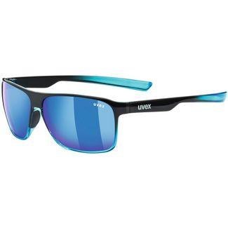 Uvex lgl 33 pola Sonnenbrille black blue-mirror blue