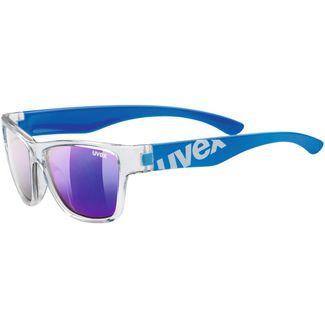 Uvex Sportstyle 508 Sportbrille Kinder clear blue-mirror blue