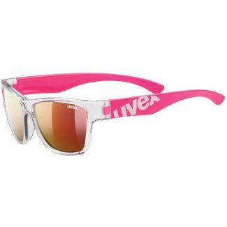 Uvex Sportstyle 508 Sportbrille Kinder clear pink-mirror red