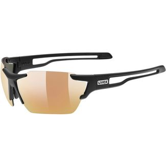Uvex Sportstyle 803 cv vm Sportbrille black mat-litemirror red
