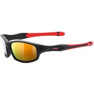 Uvex Sportstyle 507 Sportbrille Kinder black mat red-mirror red