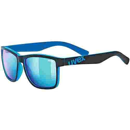 Uvex lgl 39 Sportbrille black mat blue-mirror blue
