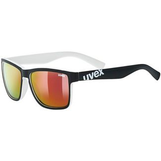 Uvex lgl 39 Sportbrille black mat white-mirror red