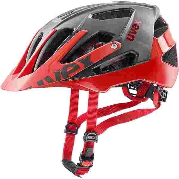 Uvex Quatro Fahrradhelm grey red