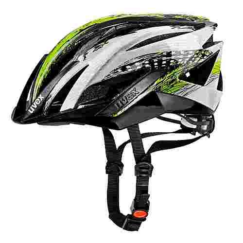 uvex ultrasonic fahrradhelm schwarz gr n wei im online shop von sportscheck kaufen. Black Bedroom Furniture Sets. Home Design Ideas