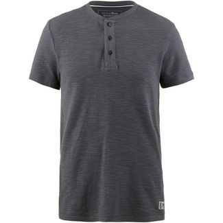 TOM TAILOR Henley T-Shirt Herren tarmac grey