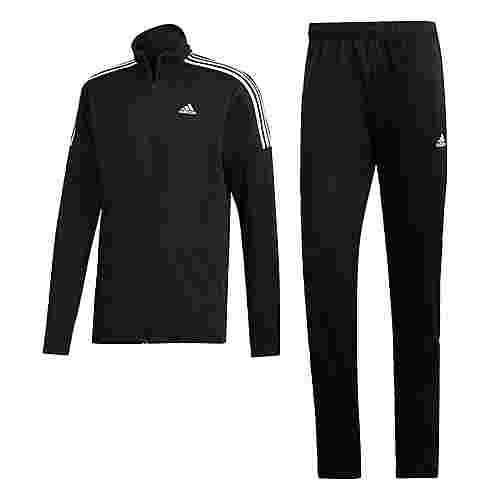 adidas Team Sport Trainingsanzug Trainingsanzug Herren Black / Black / White