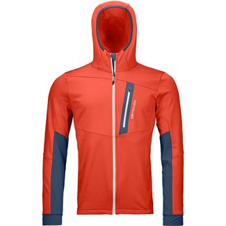 ORTOVOX FLEECE LIGHT TEC Fleecejacke Herren crazy orange