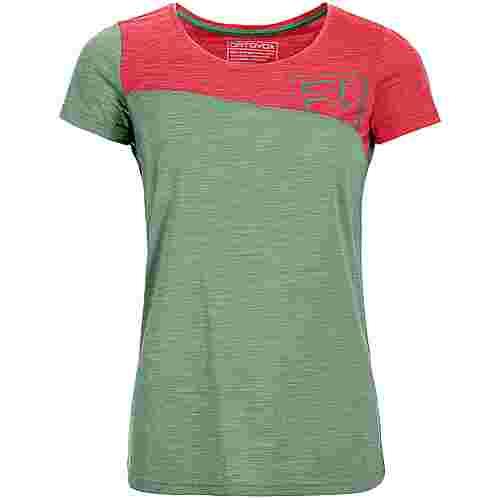 ORTOVOX 150 COOL LOGO Merino Funktionsshirt Damen green isar blend