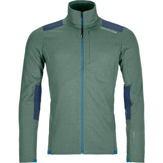 ORTOVOX FLEECE LIGHT GRID Fleecejacke Herren green forrest