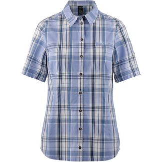 Jack Wolfskin MARONI RIVER Kurzarmbluse Damen shirt blue checks