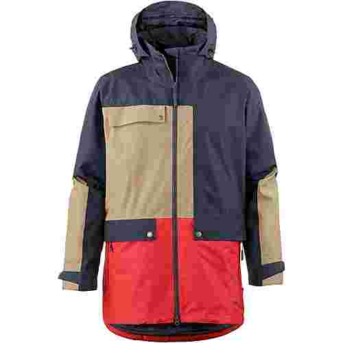 Jack Wolfskin 365 INFLUENCER Regenjacke Herren night blue peak red