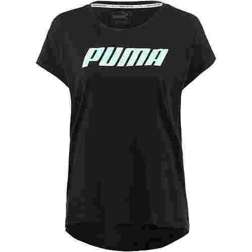 PUMA Modern Sports T-Shirt Damen cotton black-fair aqua