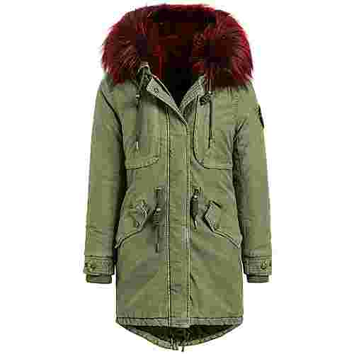 Khujo UMARA2 SOLID WITH INNER FUR JACKET Winterjacke Damen oliv