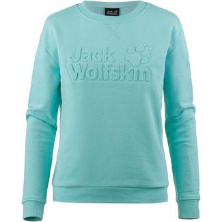 Jack Wolfskin LOGO Sweatshirt Damen aqua
