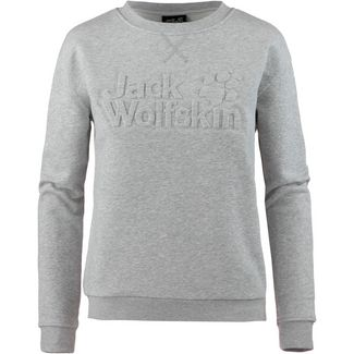 Jack Wolfskin LOGO SWEATSHIRT Sweatshirt Damen light grey