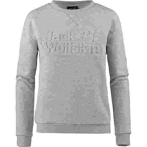 Jack Wolfskin LOGO Sweatshirt Damen light grey