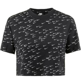 Nike NSW Essential T-Shirt Damen black-white
