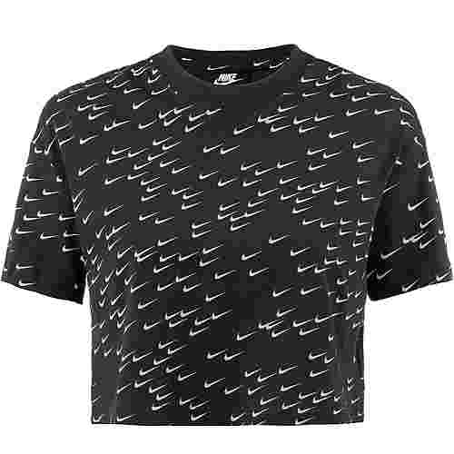 Nike NSW Essential T-Shirt Damen black-white