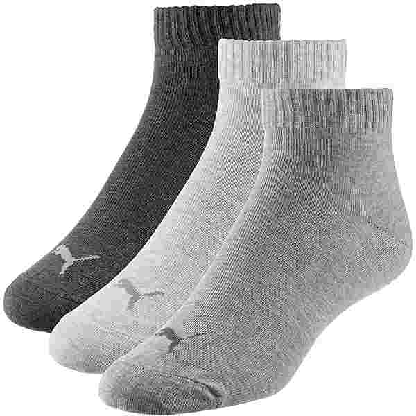 PUMA Quarter Socken Pack anthraci-l mel grey-m mel grey