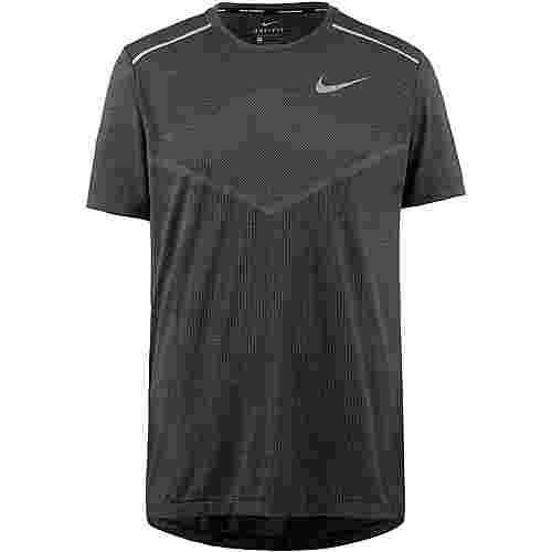 Nike Techknit Laufshirt Herren black-thunder grey-reflective silv