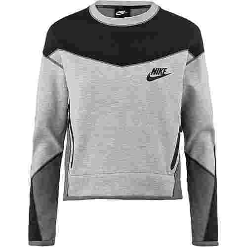 Nike NSW Tech Fleece Sweatshirt Damen dark grey heather-black
