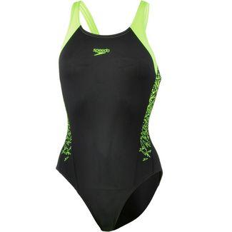 SPEEDO Boom Splice Muscleback Schwimmanzug Damen black-green