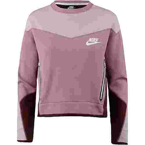 Nike NSW Tech Fleece Sweatshirt Damen plum dust-plum chalk