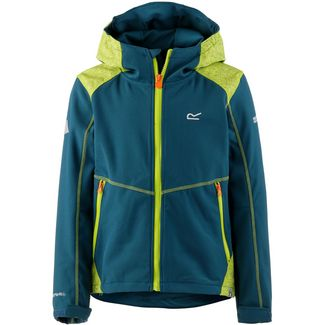 Regatta Acidity III Softshelljacke Kinder Sea Blue/Lime Punch Reflective