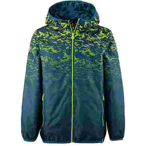 Regatta Printed Lever Regenjacke Kinder Sea Blue