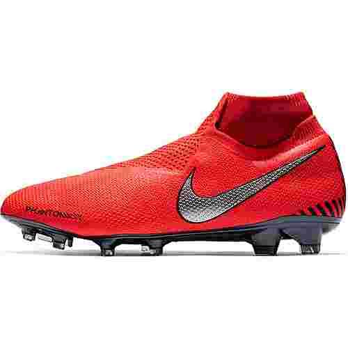 Nike PHANTOM VSN ELITE DF FG Fußballschuhe brt crimson-mtlc silver-univ red-black