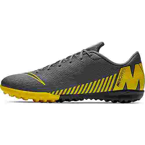 Nike MERCURIAL VAPOR 12 ACADEMY TF Fußballschuhe dk grey-black-opti yellow