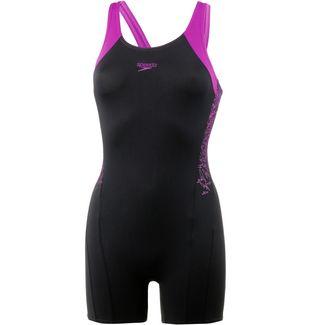 SPEEDO Boom Splice Legsuit Schwimmanzug Damen black-diva