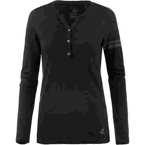 OCK Merino Langarmshirt Damen schwarz