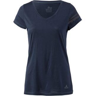 OCK Merino V-Shirt Damen navy