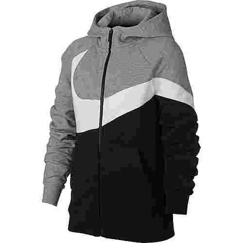 Nike Sweatjacke Kinder dk-grey-heather-black-white-black
