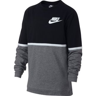 Nike Sweatshirt Kinder black-gunsmoke-white-white