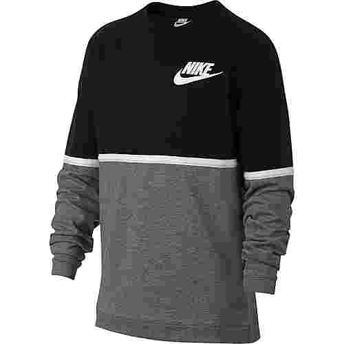 Nike Sweatshirt Kinder black-gunsmoke-white-white